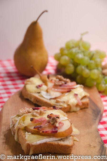 Camembert Birnen Crostini 4