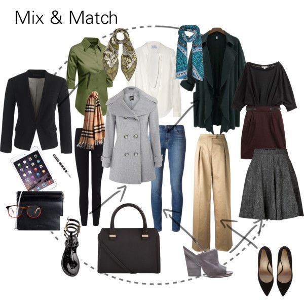 Mix & Match for work by styletrader on Polyvore featuring Burberry, Anthony Vaccarello, Cinzia Rocca, J.Crew, Valentino, Etro, J Brand, James Perse, Rachel Zoe and Marsèll