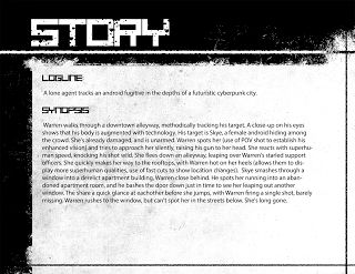 Zerahoc:  4th Year film pitch package.  The logline & synopsis. This would be the second page of your package or back of your one sheet.
