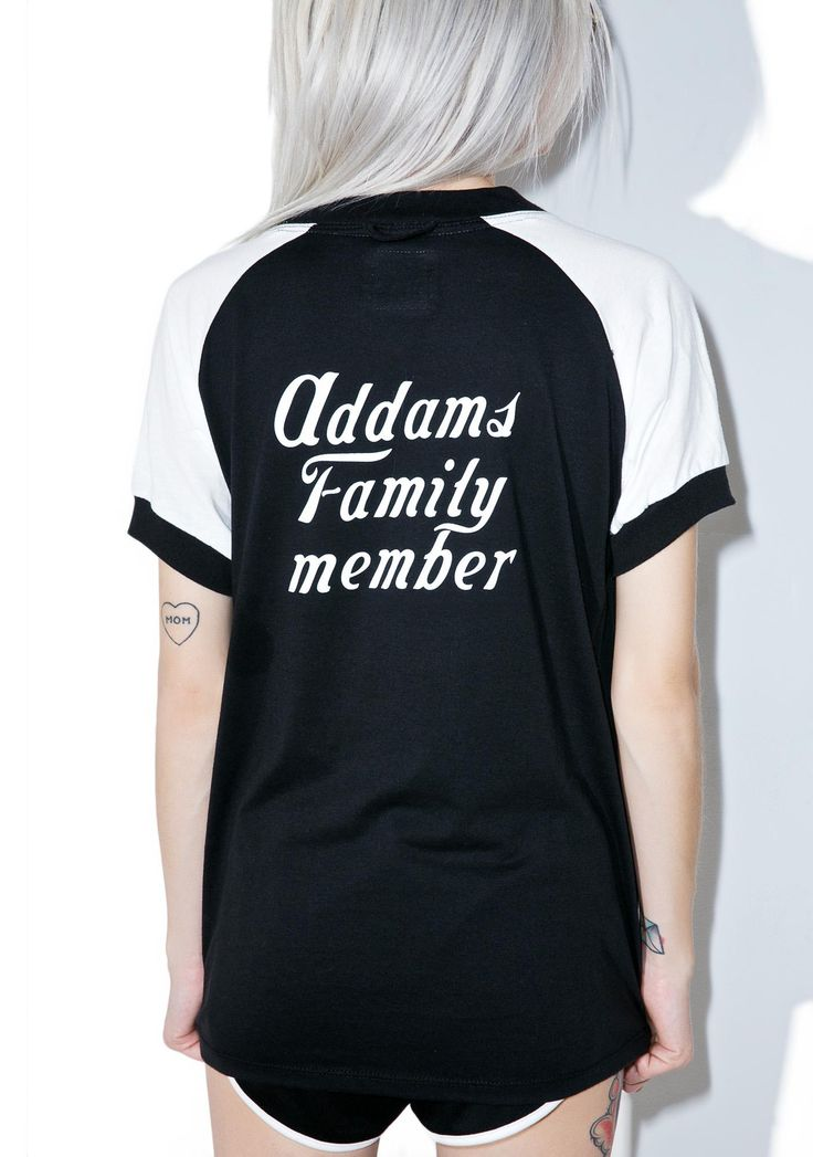 Camp Collection X Dolls Kill Addams Family Tee ...ya might be kinda spooky, but ya still got family values! This eXXXclusive slouchy tee…
