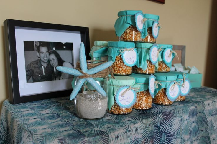 Turquoise beach themed wedding bridal shower