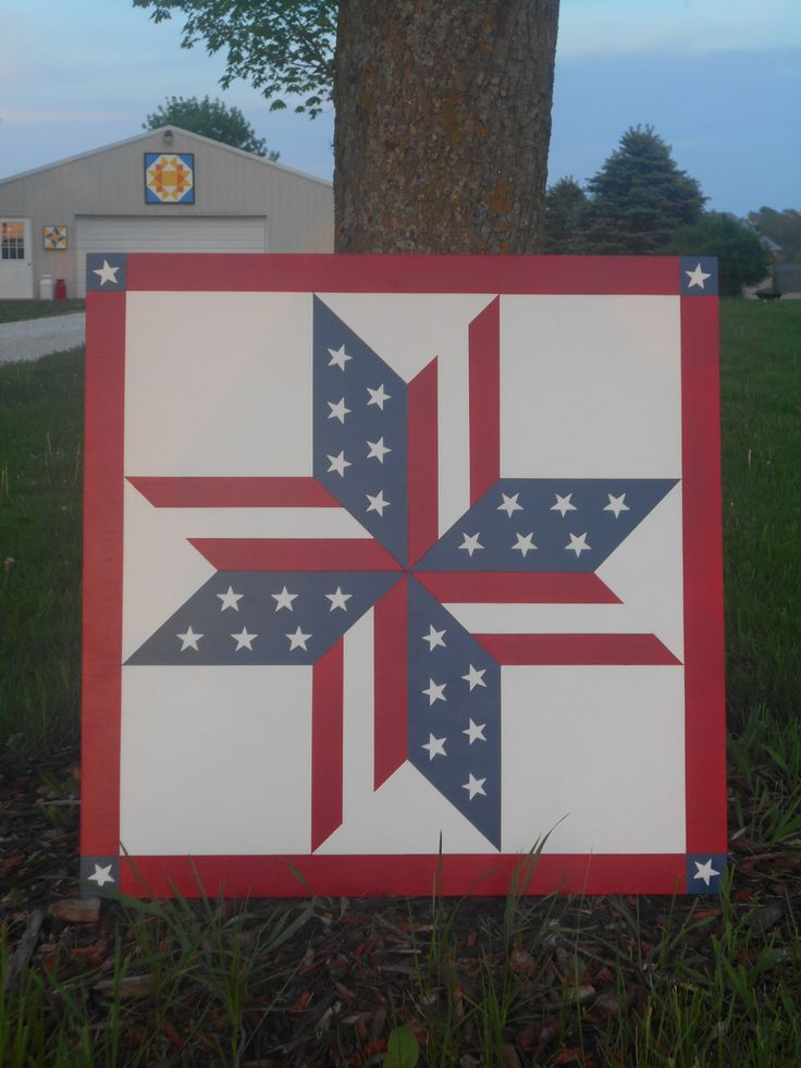 Patriotic Stars 2 X2 Painted Barn Quilts Barn Quilt