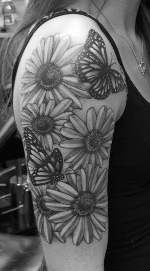 0c6933c8e Flower and butterfly half sleeve :) | Tattoo designs | Full sleeve tattoos, Half  sleeve tattoos designs, Sleeve tattoos
