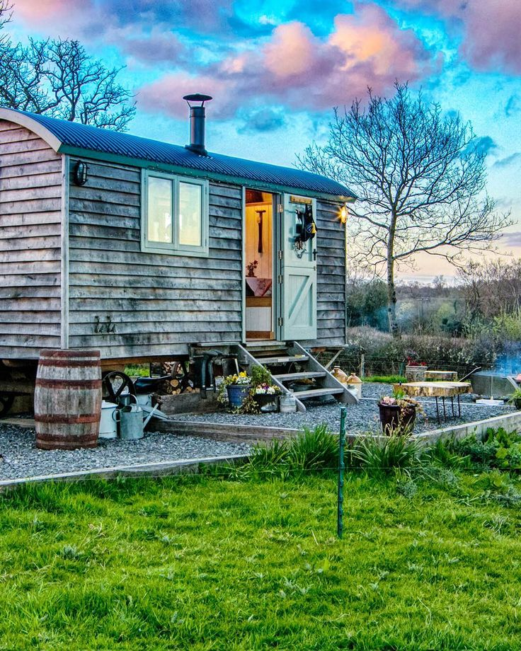 Glam  Camping = #Glamping! (Get it?) Its how youd describe the way of life at Dimpsey Shepherds Hut a luxe vacation rental tucked away in Somerset #England. Book it for yourself on TripAdvisor today!