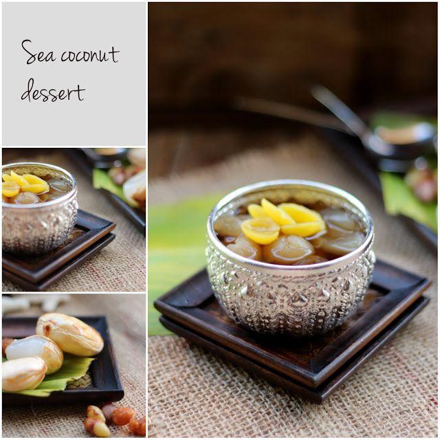 sea coconut dessert