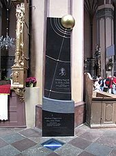 Grób Kopernika w katedrze fromborskiej