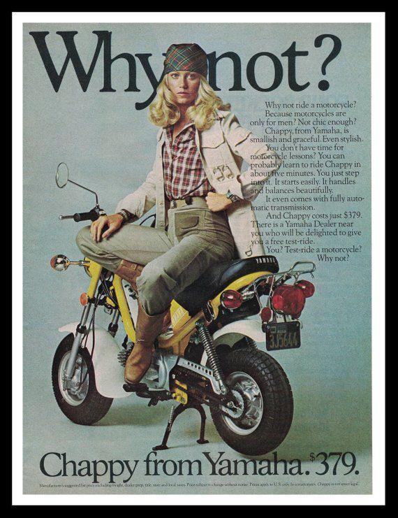 70s Yamaha Motorcycle Print Chappy From Yamaha 1976 Motorcycle
