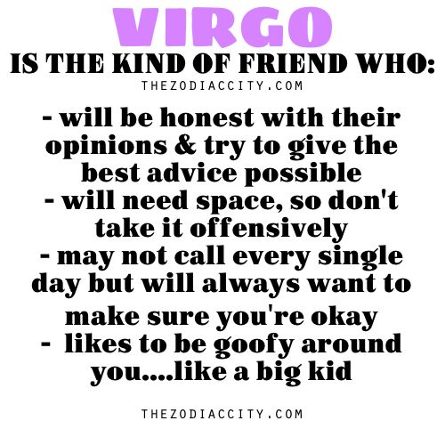 Zodiac Files: Virgo is the kind of friend who. . . .   Yep this narrows it down for me. (: