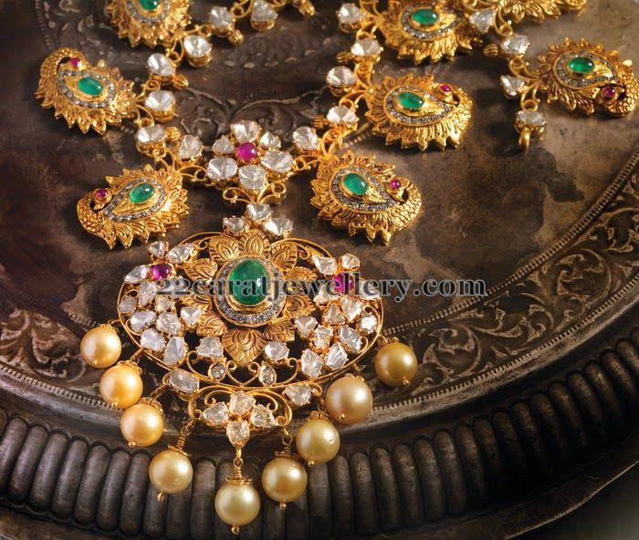 Pachi Filigree Peacock Necklace | Jewellery Designs