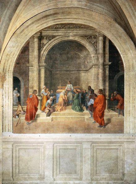 La guarigione del fanciullo cieco (1509-1510; Firenze, Santissima Annunziata)