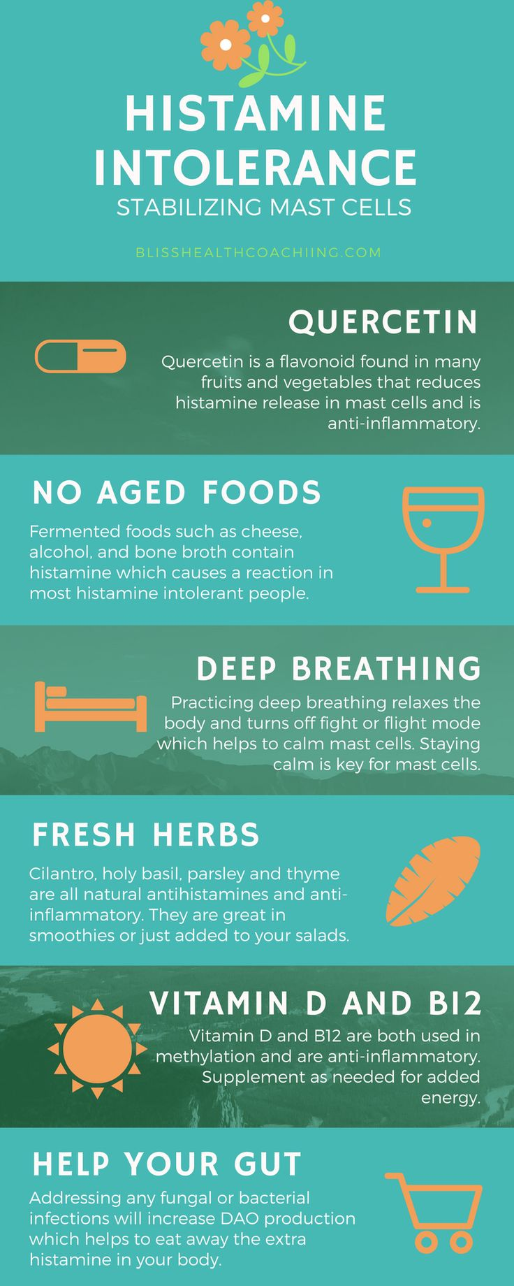 Histamine intolerance or mast cell disorders don't have to get the best of you. Learn how to stabilize those mast cells and reduce symptoms.