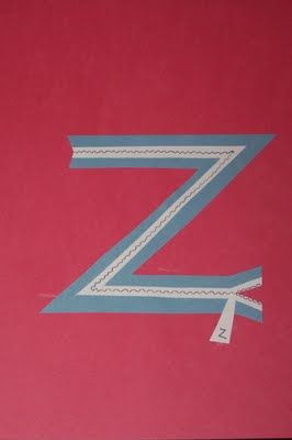 "Z is for zipper... the kids would have fun ""zig-zagging"" with marker or crayon for the zipper teeth!!!  The Princess and the Tot: Alphabet"