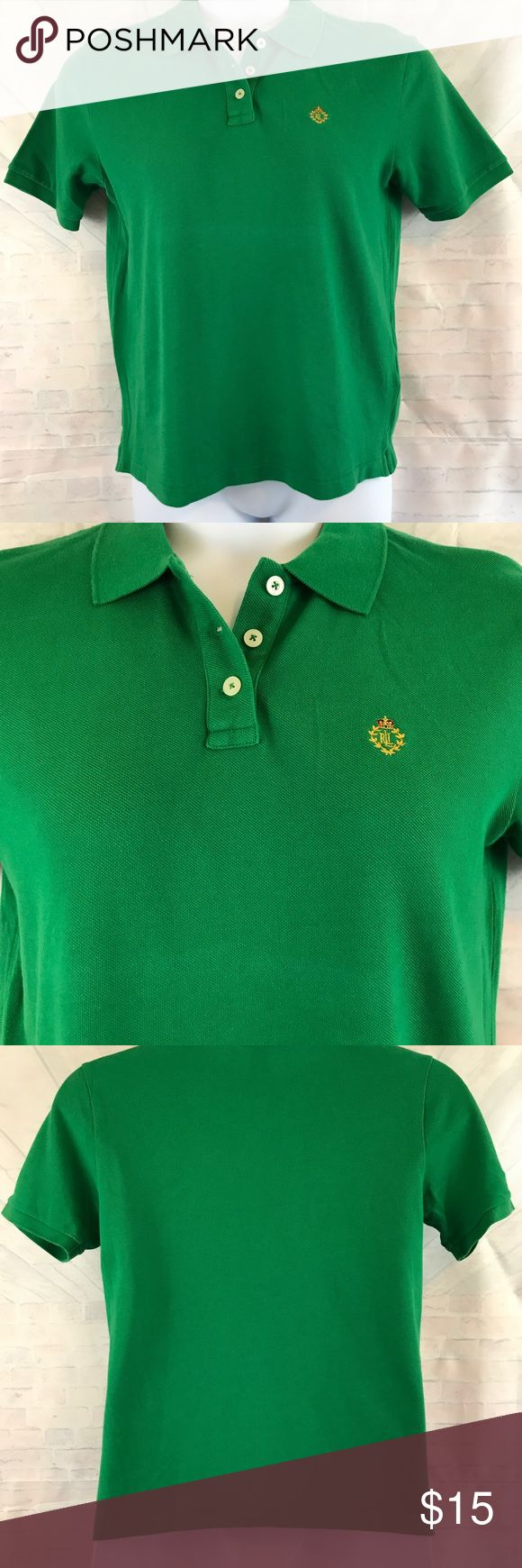 Ralph Lauren Petite Women Size PM Polo Green Shirt New with tags. Retail $39.50 Ralph Lauren Petite Women Size PM Polo Shirt. Short Sleeve.  Green.  Made of 100% Cotton. Chest approximately 40 inches and length approximately 24 1/4 inches.  Please visit our Store for a great selection of items. We also have a large selection of over 1,000+ PLUS! Buy with confidence with our 3K+ Feedbacks. Measurements are approximate. Your business is appreciated. Thank you, Polo by Ralph Lauren Tops Tees…
