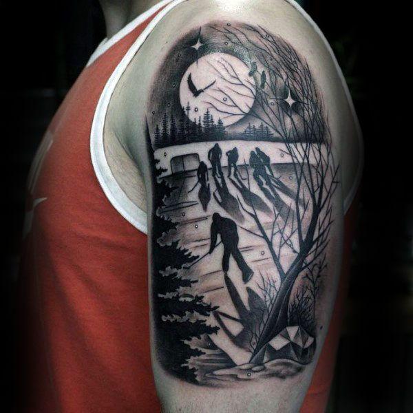 75 Hockey Tattoos For Men Nhl Design Ideas Tattoos For Guys Hockey Tattoo Tattoos