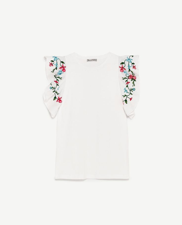 Image 8 of FLOWERS TOP from Zara