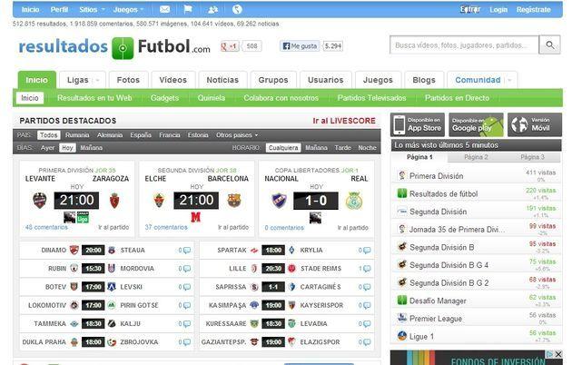 Resultados de fútbol, la red social para los amantes del fútbol