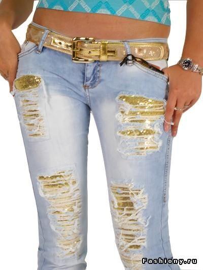 Как можно украсить джинсы