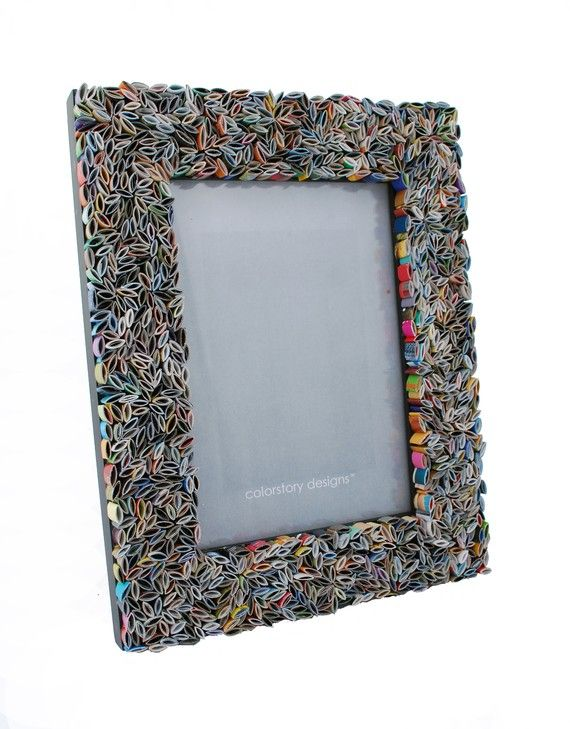 frame~~made from recycled magazines