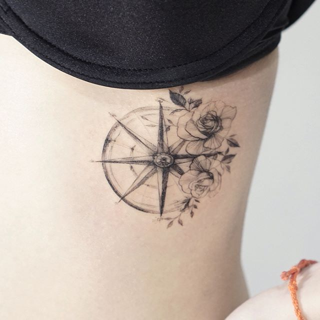 Compass Rose # tattoo # tattooed # tattooing # tattoowork # flower # flowertattoo # compass # rosetattoo # tattoo # compass # compass tattoo # rose tattoo # Tattoos  Š …