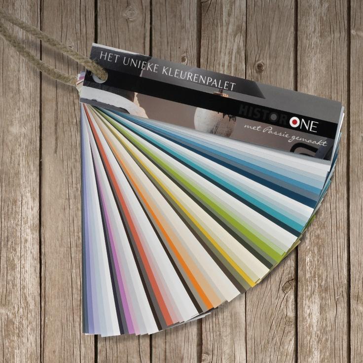 Het unieke HistorONE kleurenpalet.