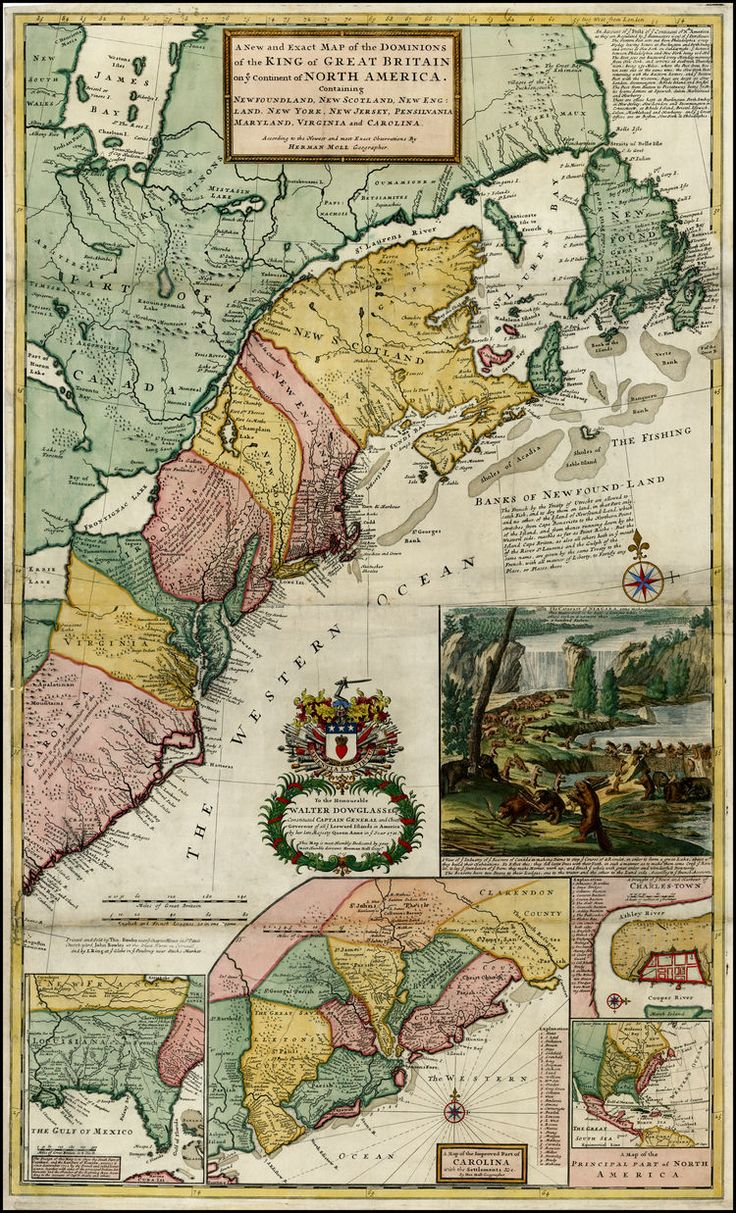 North America Map In R%0A Herman Moll  A New and Exact Map of the Dominions of the King of Great