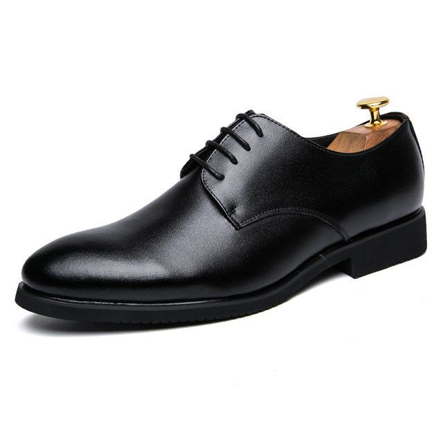 KLYWOO New Leather Men Casual Shoes Lace-Up Brand Fashion Business Dress Men Oxfords Shoes For Men Formal Shoes Chaussure Homme