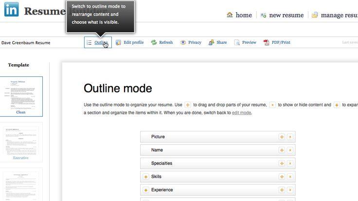 17 Best images about LinkedIn Updates on Pinterest Business - linkedin resume builder
