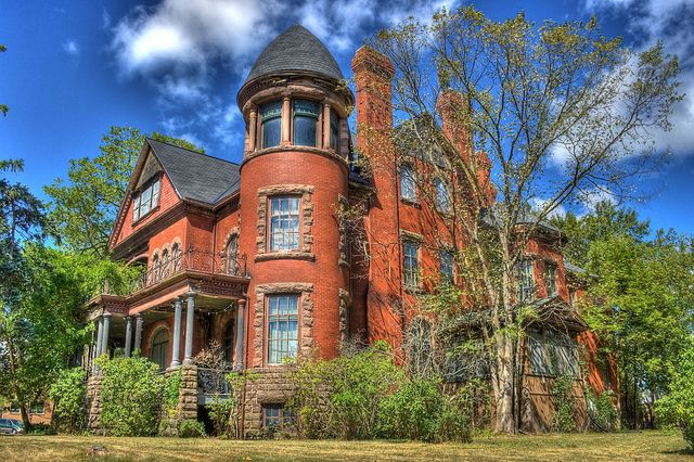 "This magnificent old mansion was built in Petrolia, Ontario circa 1891 and was known as the ""Sunnyside Mansion"". It was built by the Fairbank family who were prominent in the early days of the discovery and production of crude oil in the Petrolia area. The building has deteriorated significantly and is now in very poor condition."