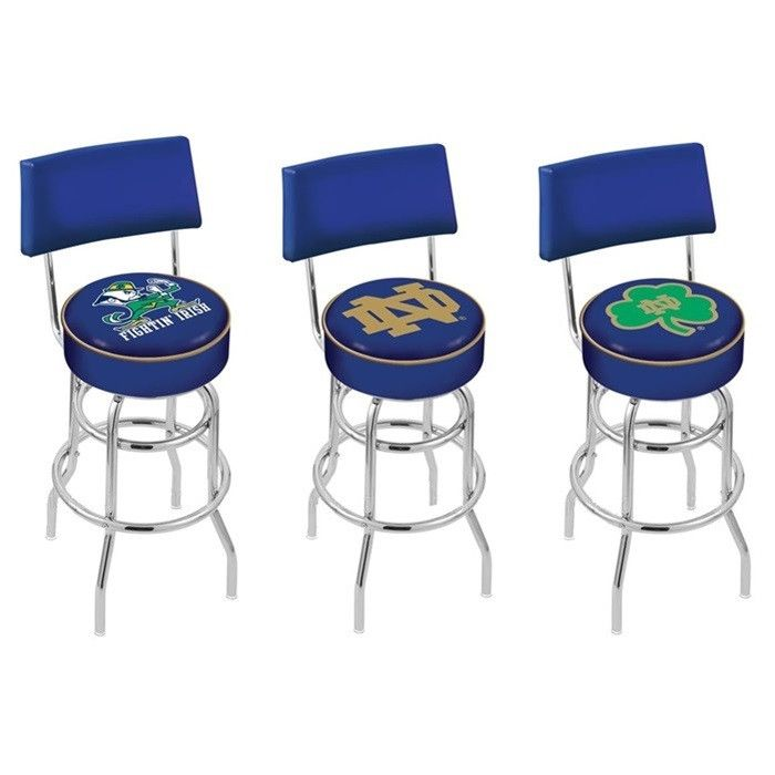 Notre Dame Fighting Irish Bar Stool With Back Notre Dame