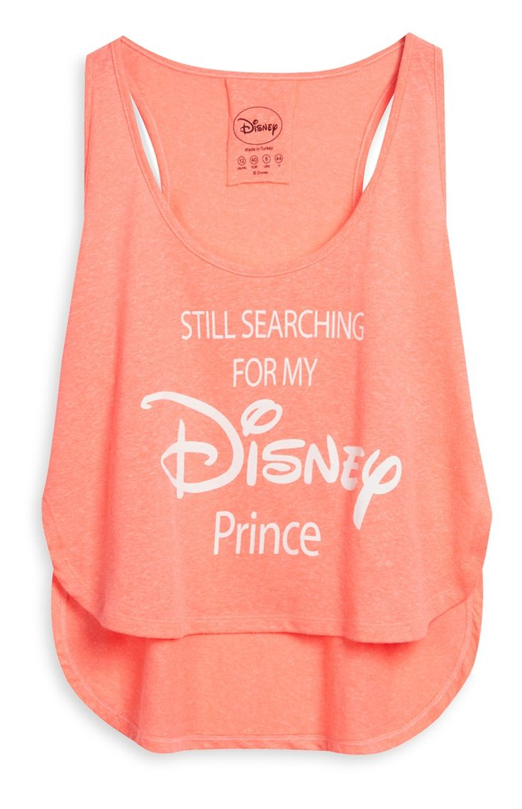 Camiseta corta color coral de Disney