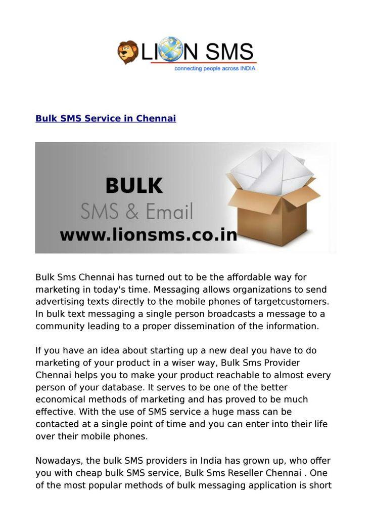 Bulk SMS Chennai, Marketing SMS Chennai, Transactional SMS Chennai
