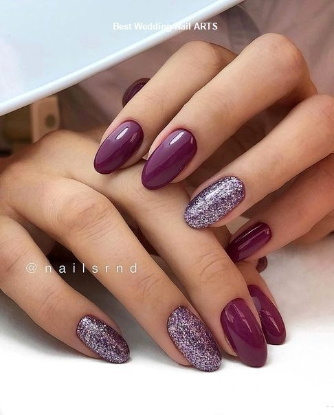 35 simple ideas for wedding nails Design #weddingnailart