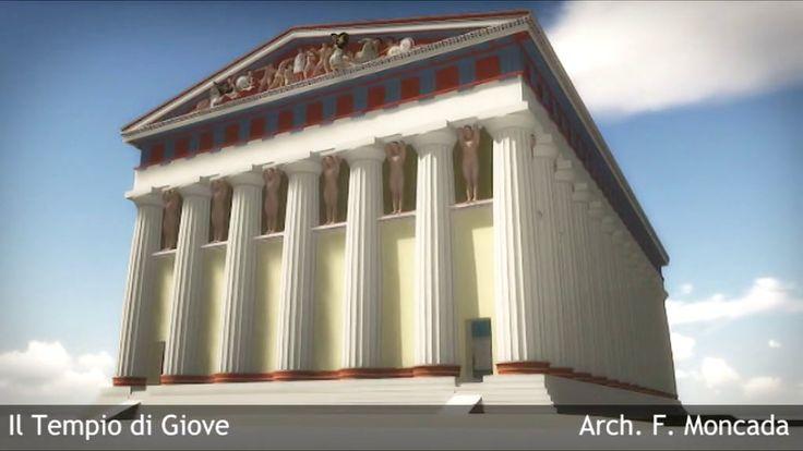 Ricostruzione del Tempio di Giove ad Agrigento - Temple of Olympian Zeus
