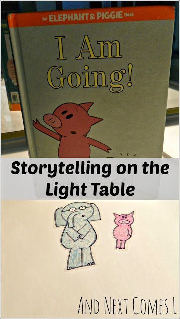 DIY book characters for light table and overhead projector play from And Next Comes L