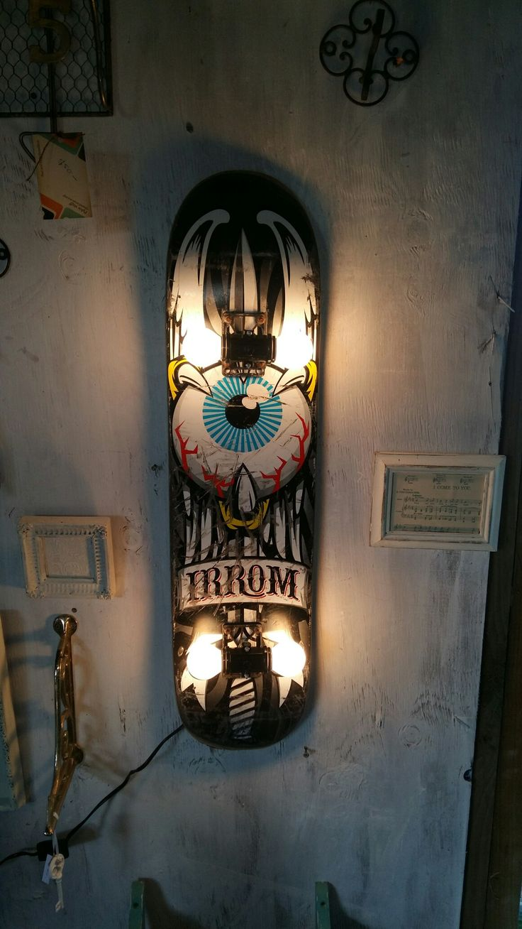 Mean skateboard lamp