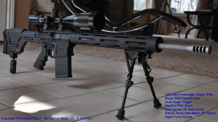 AR-10 .308 with Magpul PRS Stock and 20in Rainier Arms Ultra Match Barrel
