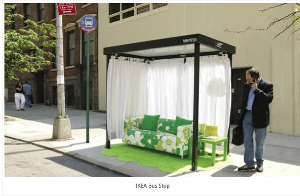 Hello? Anyone need to chill out in a bus stop? IKEA thinks so.