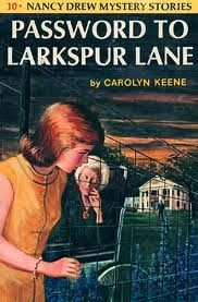 Password to Larkspur Lane by Carolyn Keene...this was my first Nancy Drew!
