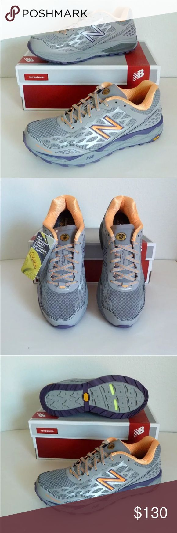 Women's New Balance Grey Trail Running Shoes 10 Brand new in box.   Vibram outsole.  Also available in size 9. New Balance Shoes Athletic Shoes