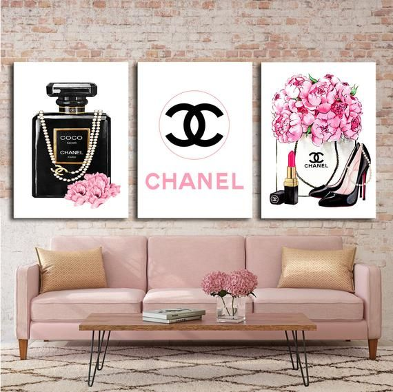 Please Read The Description Below Fashion Wall Art Fashion 3 Set Print Canvas Wall Art Chanel Wall Chanel Wall Art Fashion Wall Art Fashion Wall Art Chanel