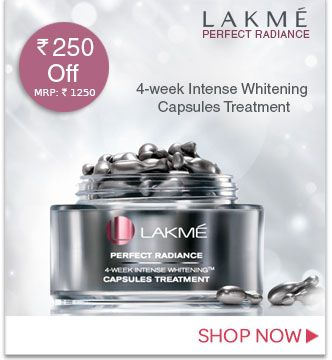 lakme cosmetics Lakme perfect rasiance. 4-week intense whiteing capsules treatment Rs.250 off & we got in 1250 only  Get more detail visit @ nykaa.com