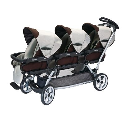 If you have the occasion for a triple stroller.  Also works as a snap and go with the peg infant seats. Very long, attention getting, but has a great steering wheel and is light, considering.