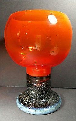 "8.5"" Kaj Franck Goblet Glass Mid Century Modern mcm? Nuutajarvi large | eBay"