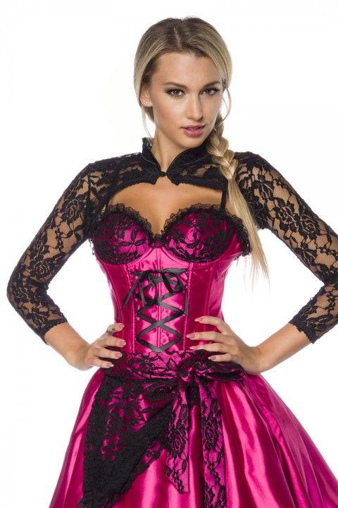 Dieser elegante #Bolero aus feiner Spitze rundet dein #Dirndl optimal ab! https://www.burlesque-dessous.de/themen/sexy-dirndl/dirndl/bolero-aus-spitze