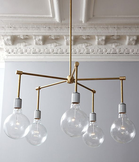 DIY Modern brass chandelier.