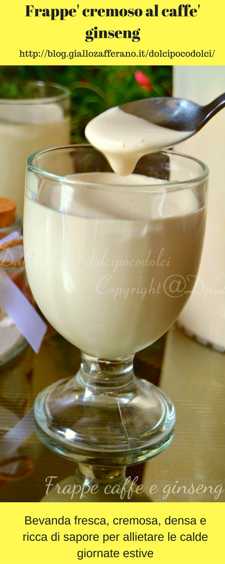 #Frappè #cremoso #caffè #ginseng #ricetta #bevande di #dolcipocodolci #blog #cucina #Estive #Salutari #Fredde #Drinks #Dissetanti #Fresche