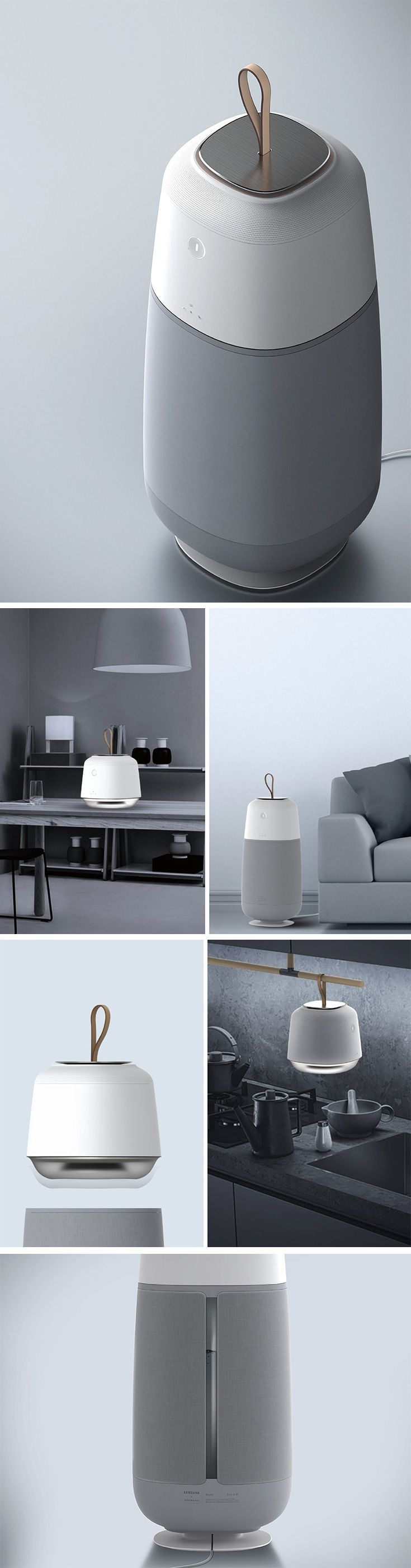"""In Swedish, """"Belyse"""" means """"to enlighten"""" and the Belyse Air Solution aims to do just that in your kitchen and other living spaces. This minimalist lighting and air purifying pod is capable of being carrying and placed almost anywhere but is specifically designed for use in the kitchen. Using a modern efficient filtration system, it also helps eliminate harmful byproducts of cooking like formaldehyde."""