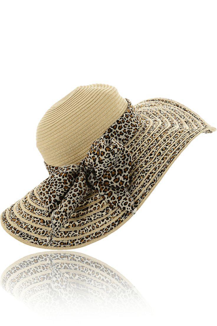 LALÙ SYDELLE Leopard Floppy Beach Hat - ACCESSORIES | HATS | PRET-A-BEAUTE.COM