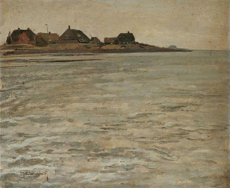 Max Clarenbach, Die HALLIG HILLIGENSEE IN DER NORDSEE., Auktion 895 Alte Kunst, Lot 1339