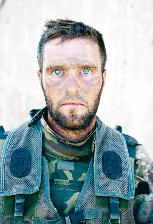 Corporal Antonio Metruccio's eyes after a 72-hour long fire-fight.